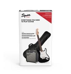 Kit Guitarra Squier Stratocaster®, Amplificador Frontman 10G, Bag, Cabo, Correia e Palhetas