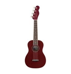 Ukulele Concert Fender Zuma Classic Walnut Candy Apple Red